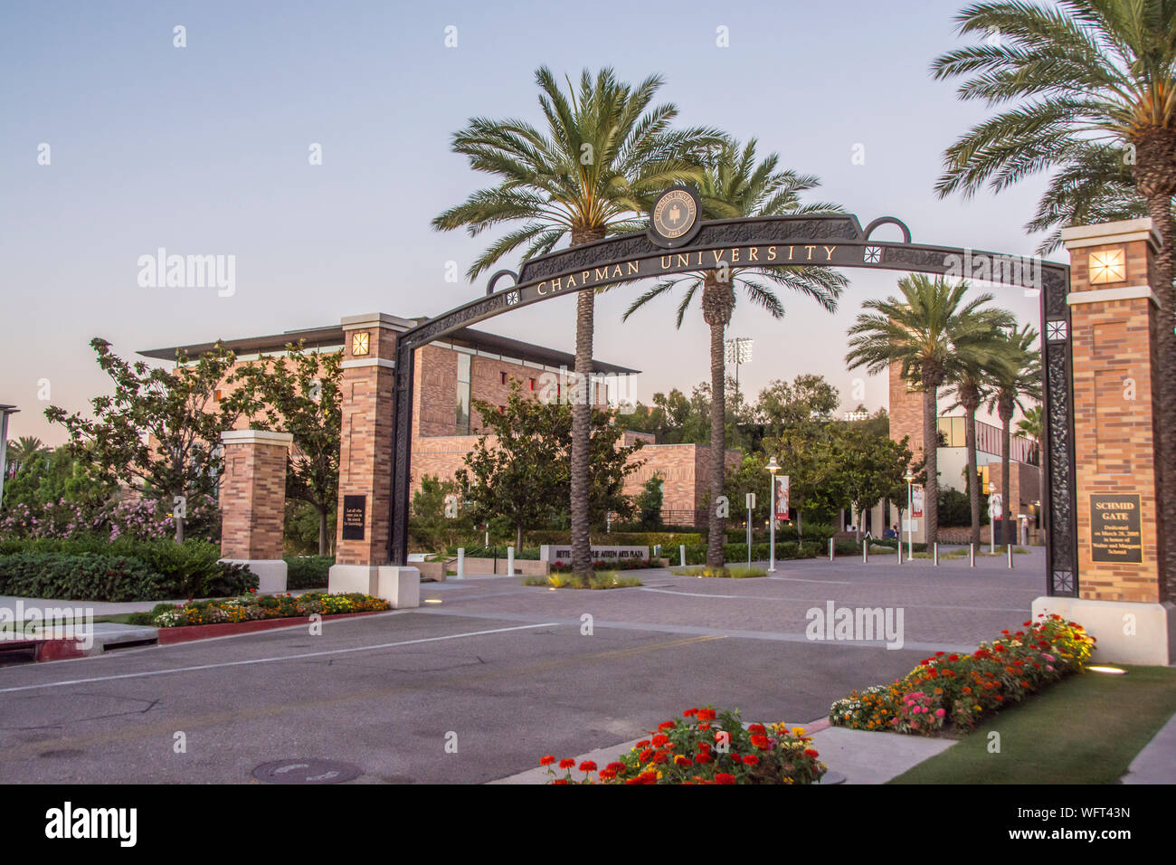 Chapman University, a private university in the city of Orange, California, USA Stock Photo