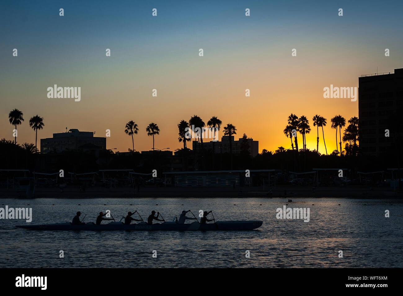 WaterBus Marina Del Rey Stock Photo