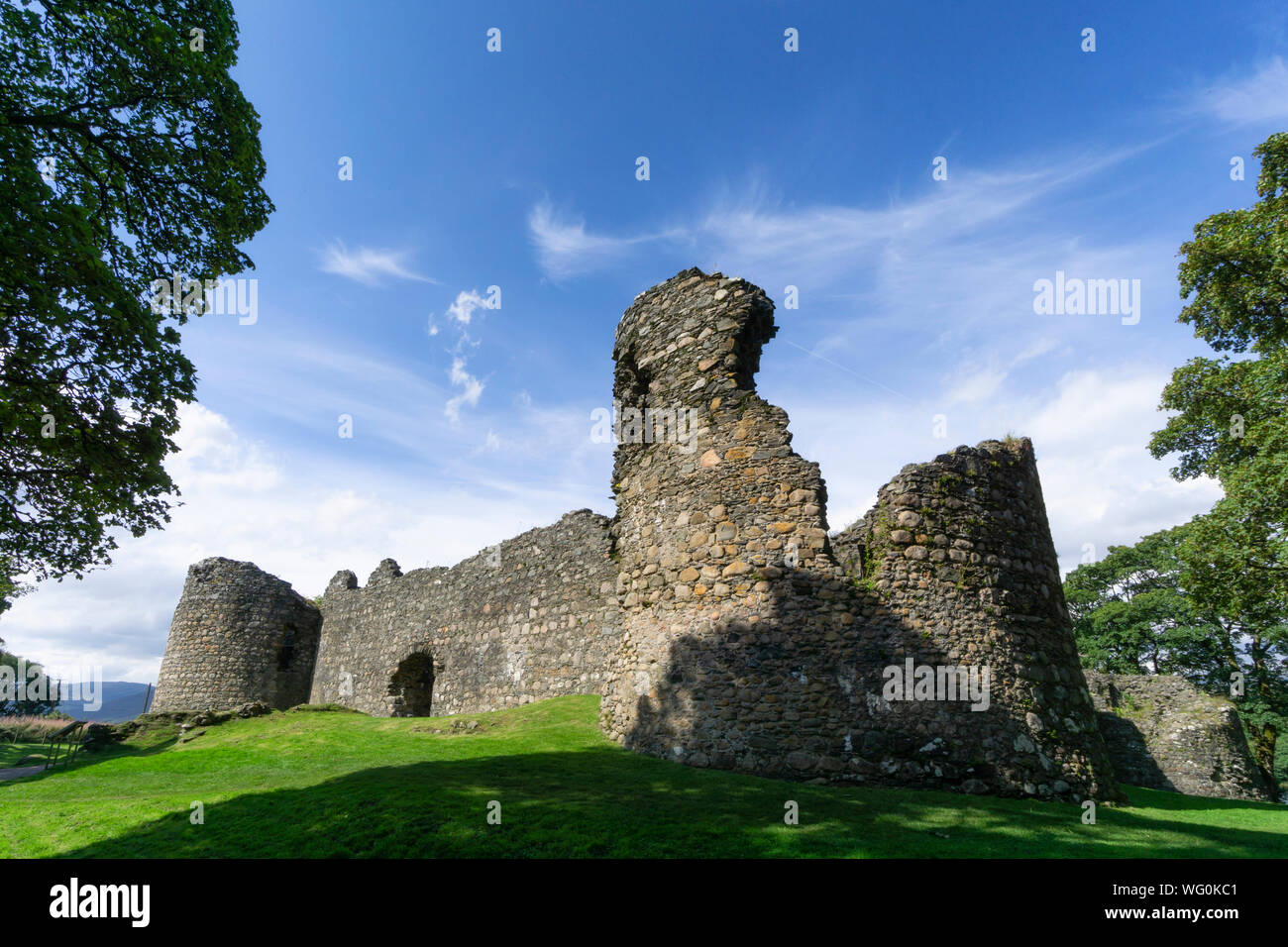 the old Inverlochy castle, Fort William in the highlands of Scotland Stock Photo