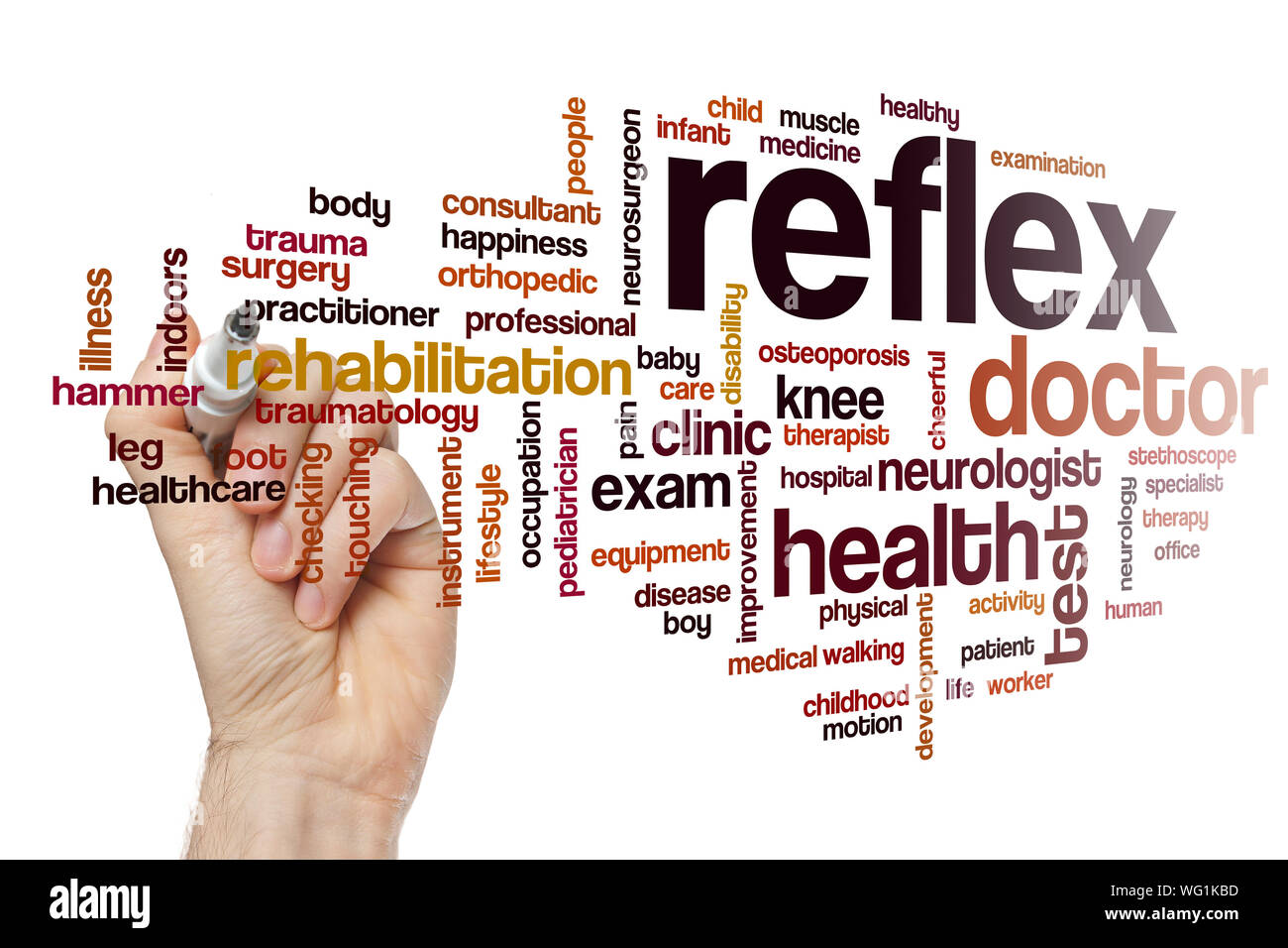 Reflex word cloud concept Stock Photo