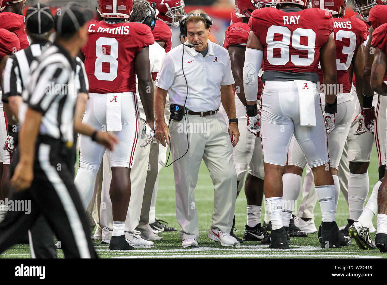 new high quality outlet online August 31, 2019: Head coach Nick Saban leaves the Alabama ...