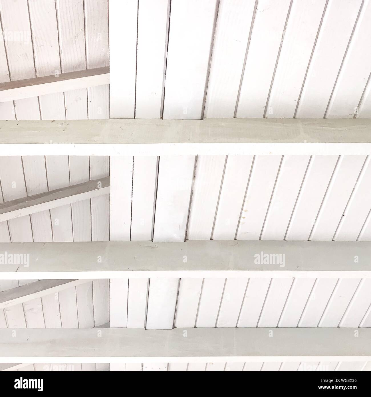 Low Section Of Wooden Ceiling Stock Photo