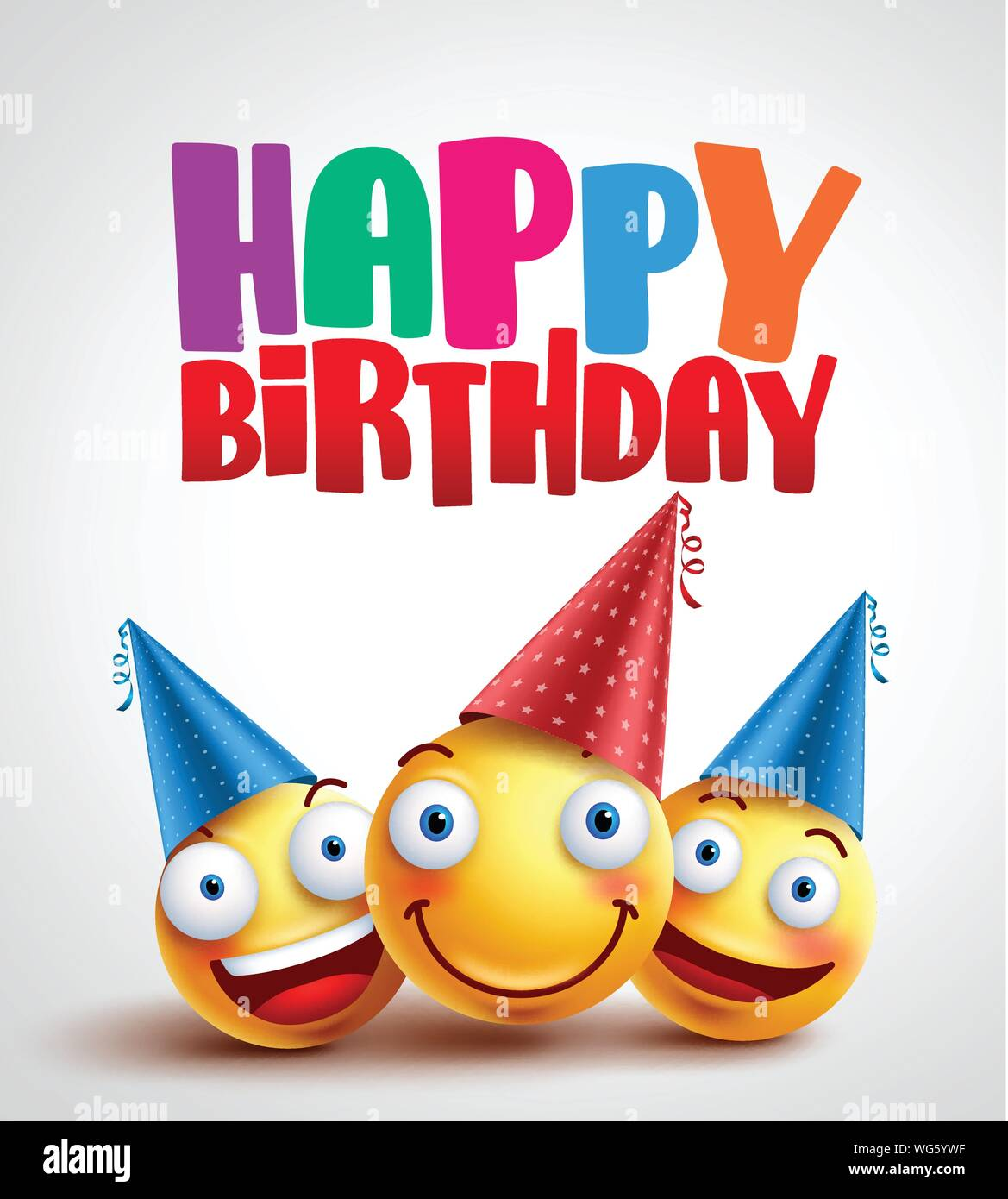 Magnificent Happy Birthday Smileys Celebrant With Happy Friends Funny Vector Funny Birthday Cards Online Alyptdamsfinfo