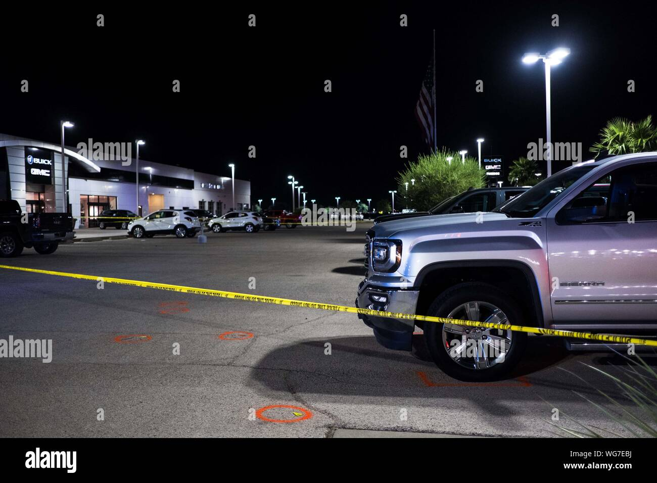 Car Dealerships In Odessa Tx >> Odessa Texas Usa 31st Aug 2019 Crime Tape Blocks Off An