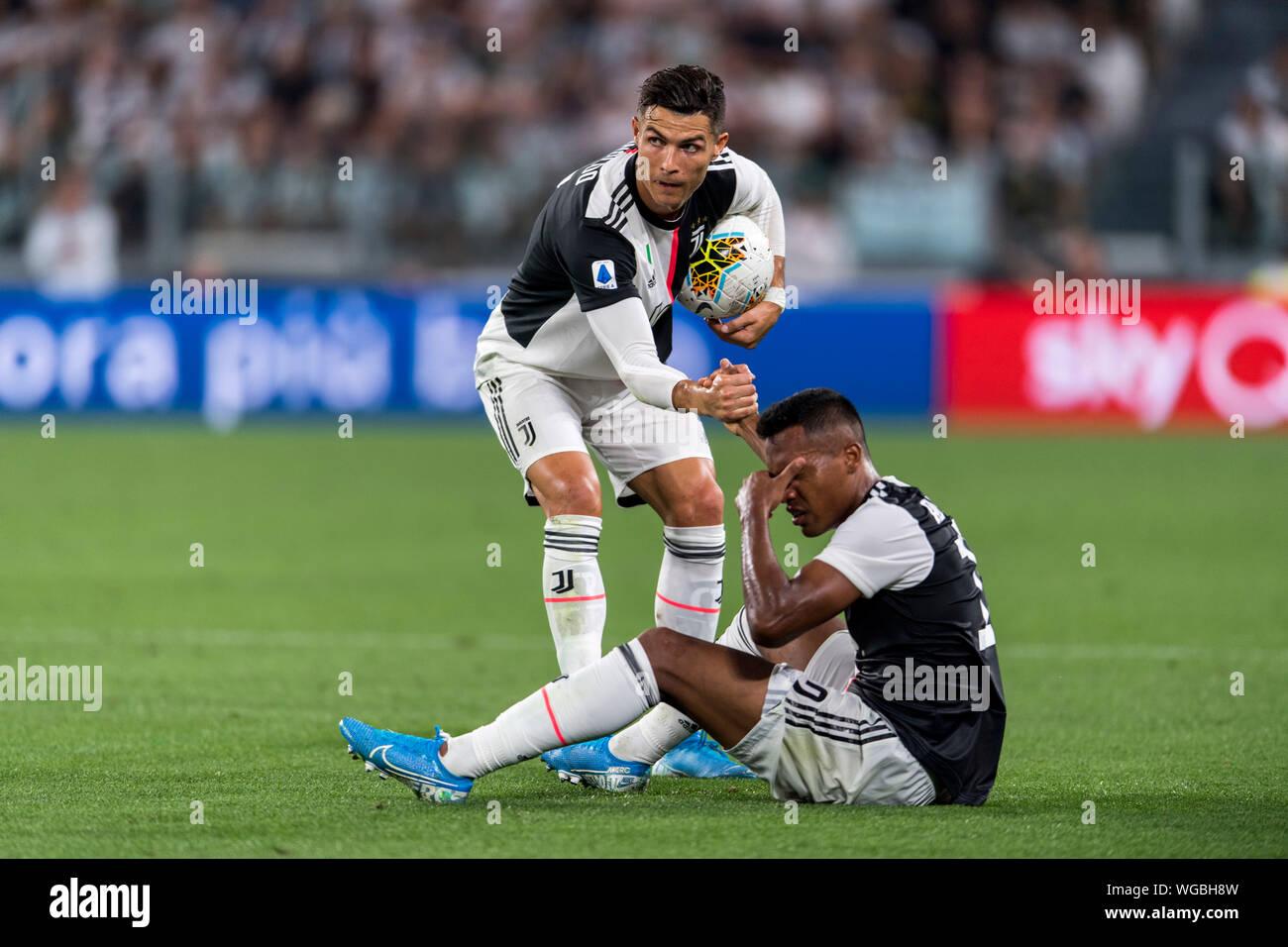 Cristiano Ronaldo dos Santos Aveiro (Juventus) Alex Sandro Lobo Silva  (Juventus) during the Italian