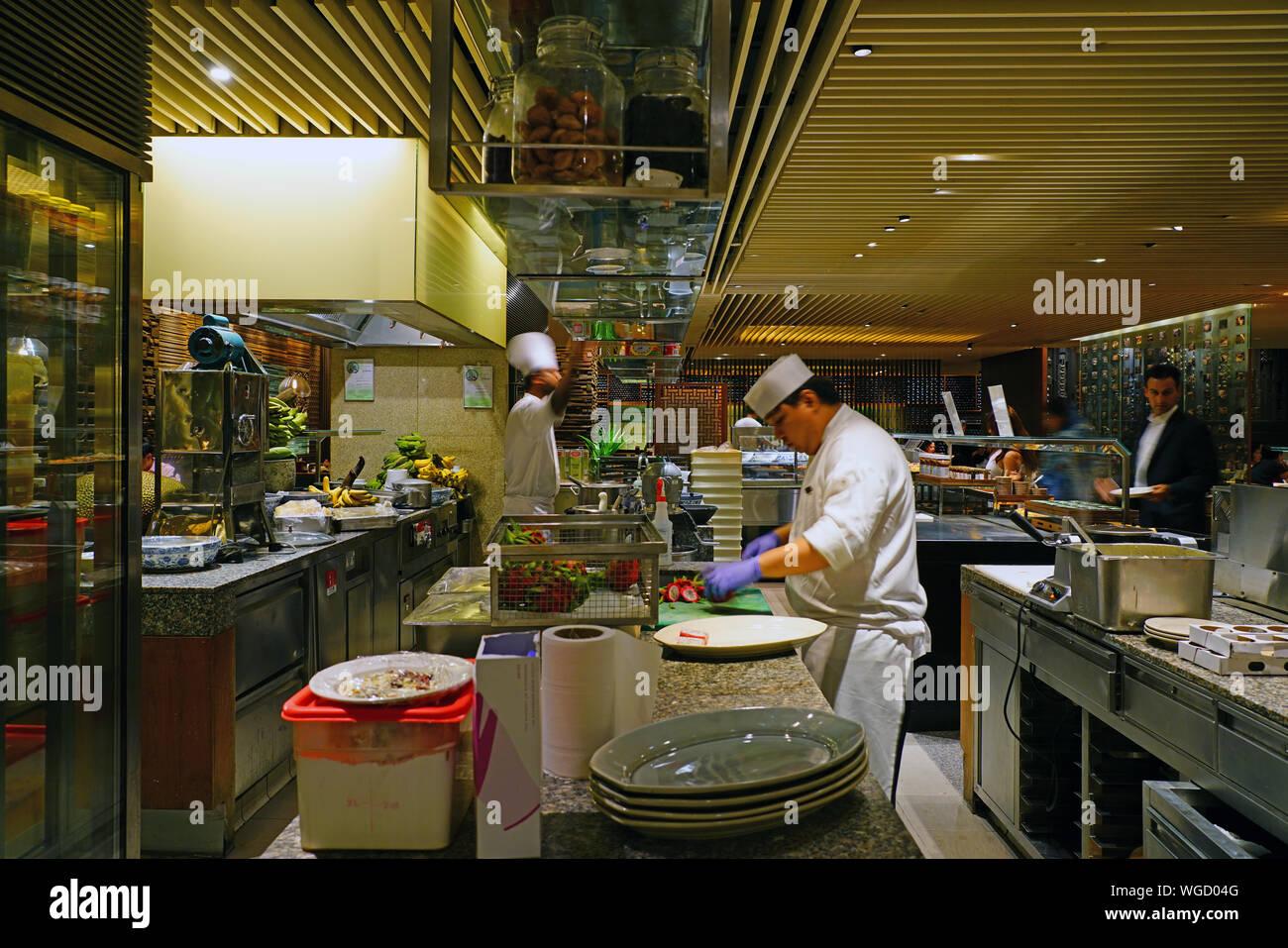 Singapore 27 Aug 2019 View Of Straits Kitchen A Famous Luxury
