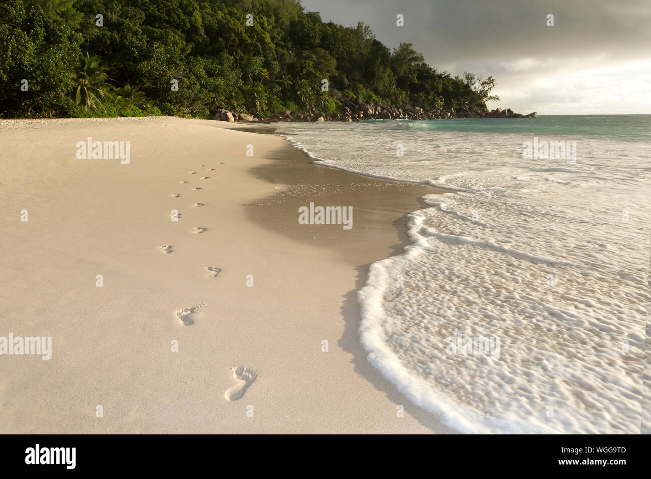 Scenic View Of Beach Against Sky Stock Photo