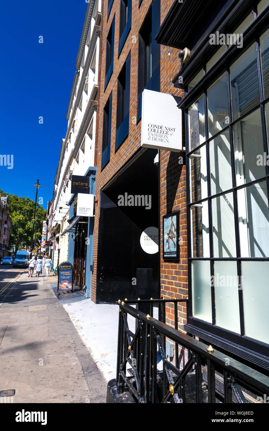 Sign For The Conde Nast College Of Fashion Design In Soho London Uk Stock Photo Alamy