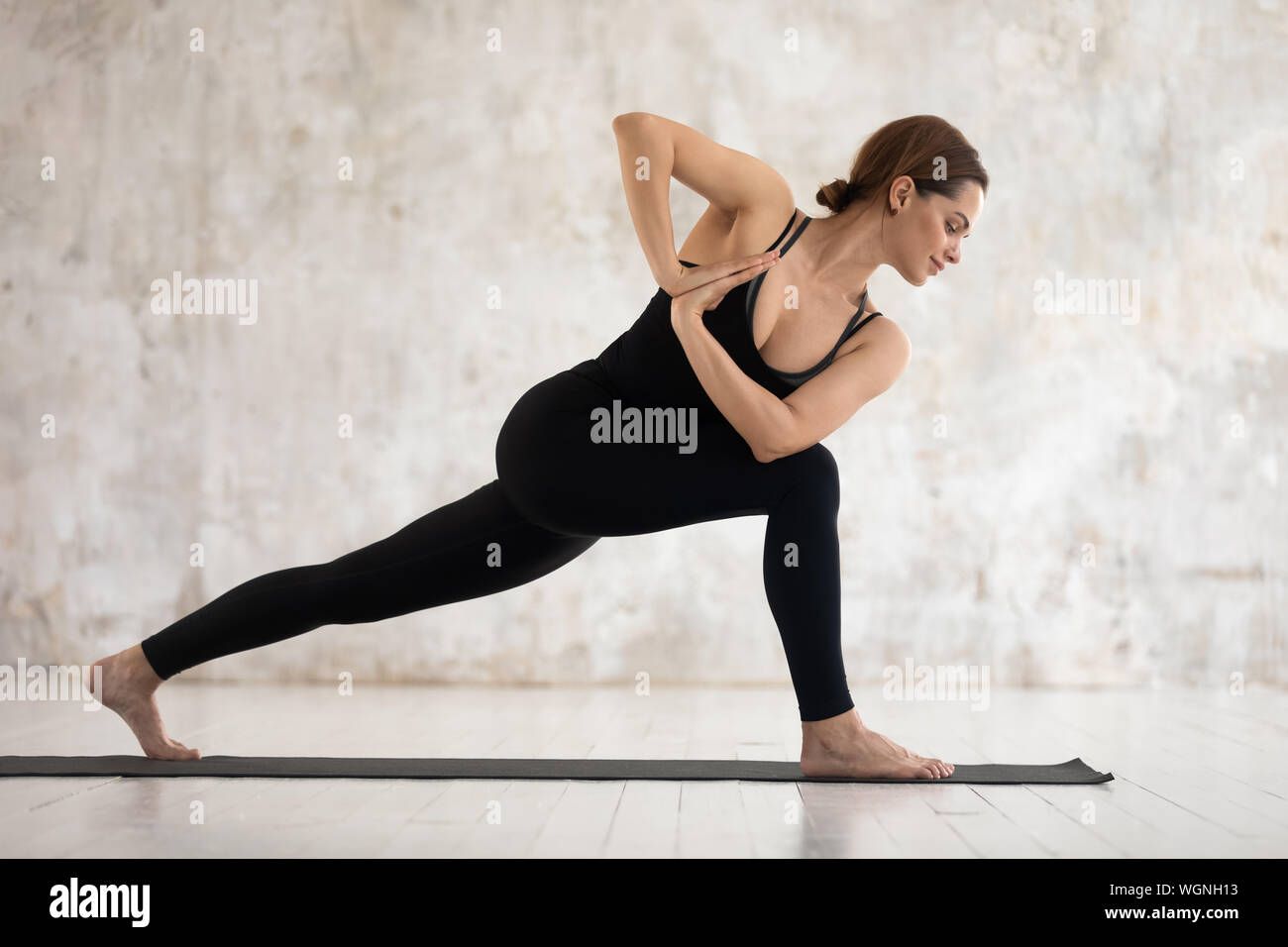 Standing Twist Pose High Resolution Stock Photography and Images