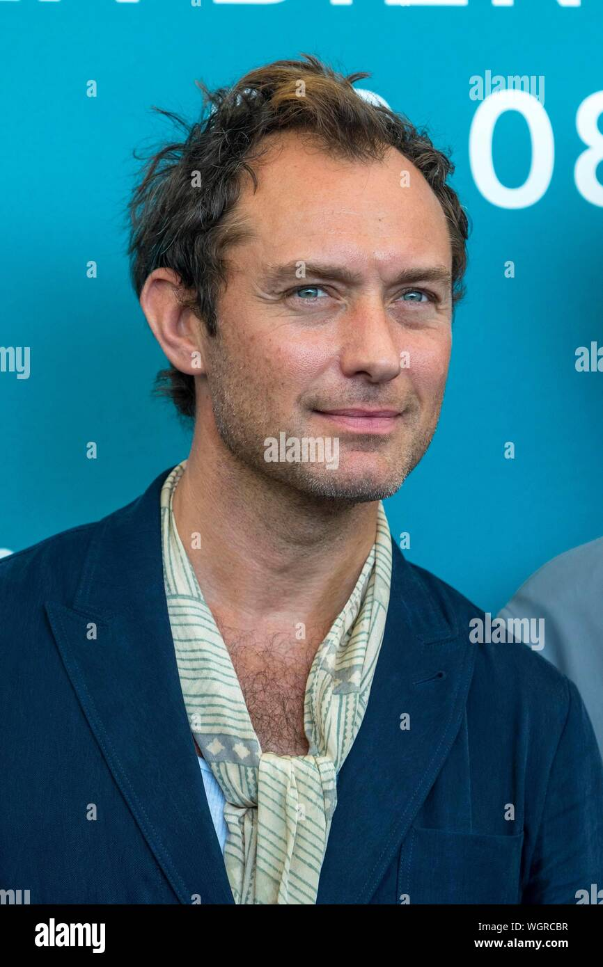 Venice Italy 1st Sept 2019 Jude Law Poses At The Photo Call Of The New Pope