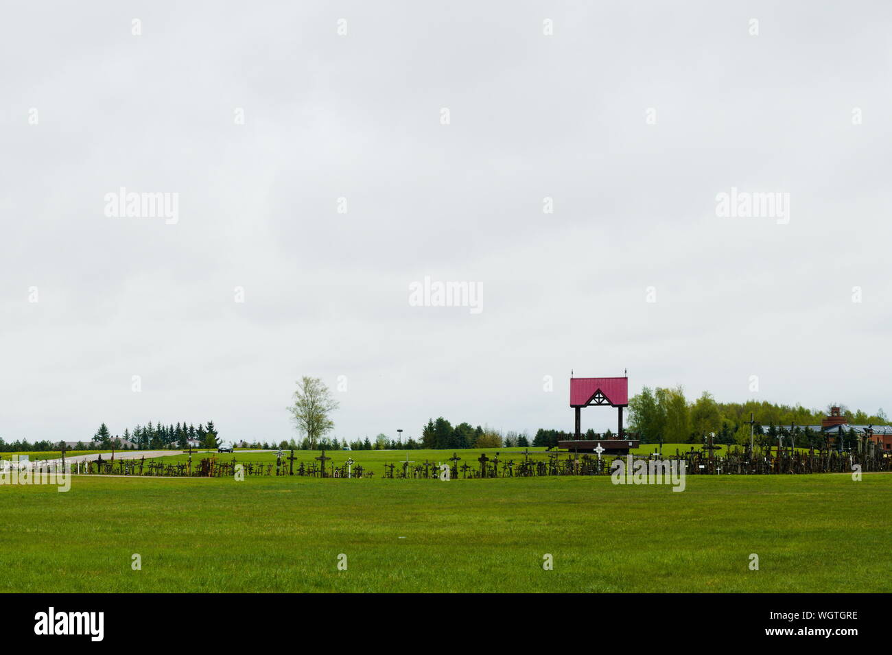 The Hill of Crosses, Lithuania Stock Photo