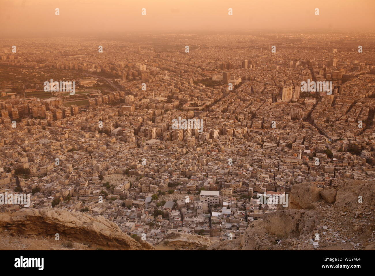 the city centre of Damaskus before the war in Syria in the middle east Stock Photo