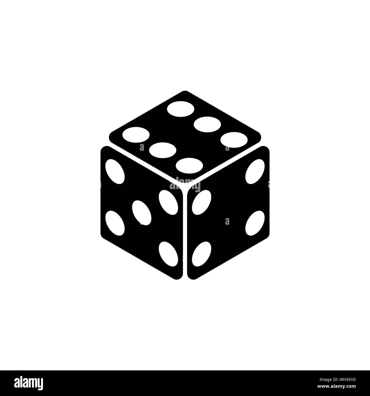 Game Dice, Casino Cube  Flat Vector Icon illustration