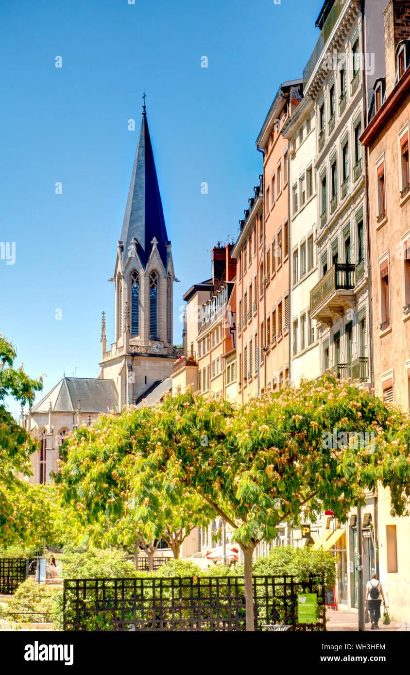 Lyon, Historical center, HDR image Stock Photo