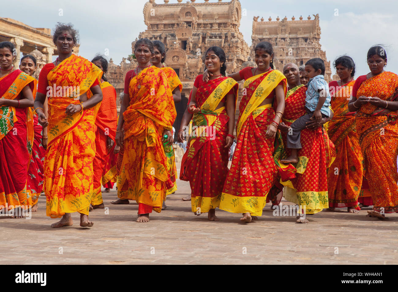 India, Tamil Nadu, Tanjore, Thanjavur, Pilgrims at the