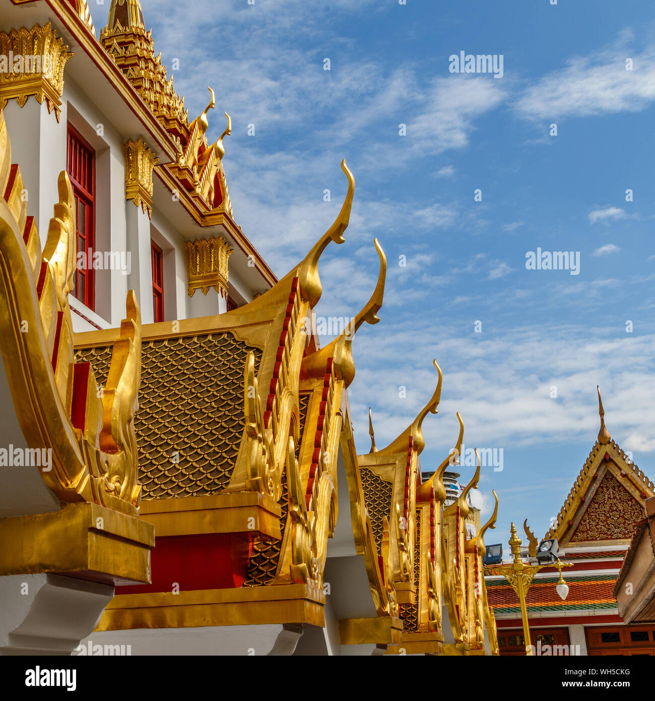 Wat Ratchanatdaram, buddhist temple (wat) in Bangkok, Thailand Stock Photo