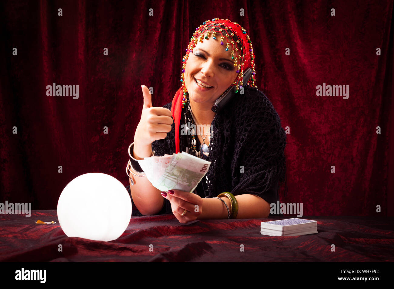 Gypsy Fortune Teller Stock Photos & Gypsy Fortune Teller