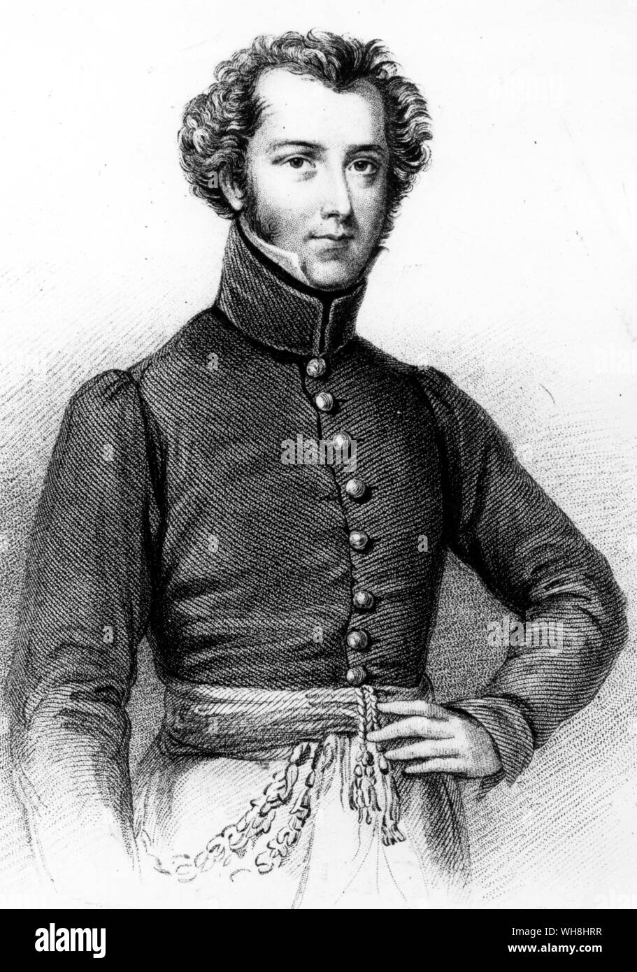 Alexander Gordon Laing (1793-1826), Scottish explorer and the first European to reach Timbuktu. Engraving by S. Freeman. 'It was felt in some conservative military circles that Major Gordon Laing was a clever but somewhat conceited officer, and probably there was feeling of mild relief when he applied to lead a new expedition into the Sahara.' The African Adventure - A History of Africa's Explorers by Timothy Severin, page 124. Stock Photo