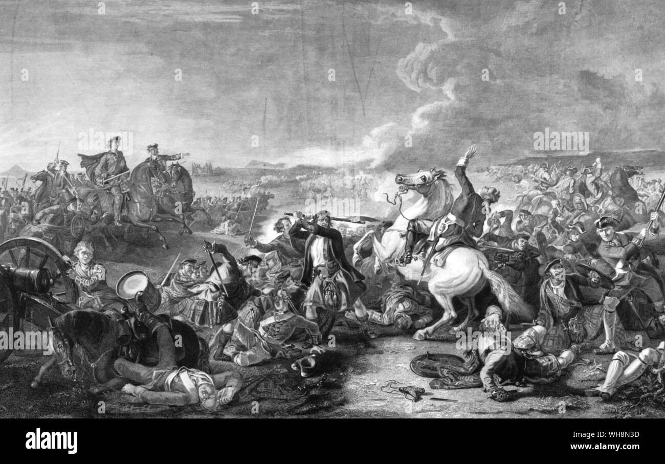 Battle of Prestonpans and the death of Colonel  Fardiner? 18 September 1745 Stock Photo