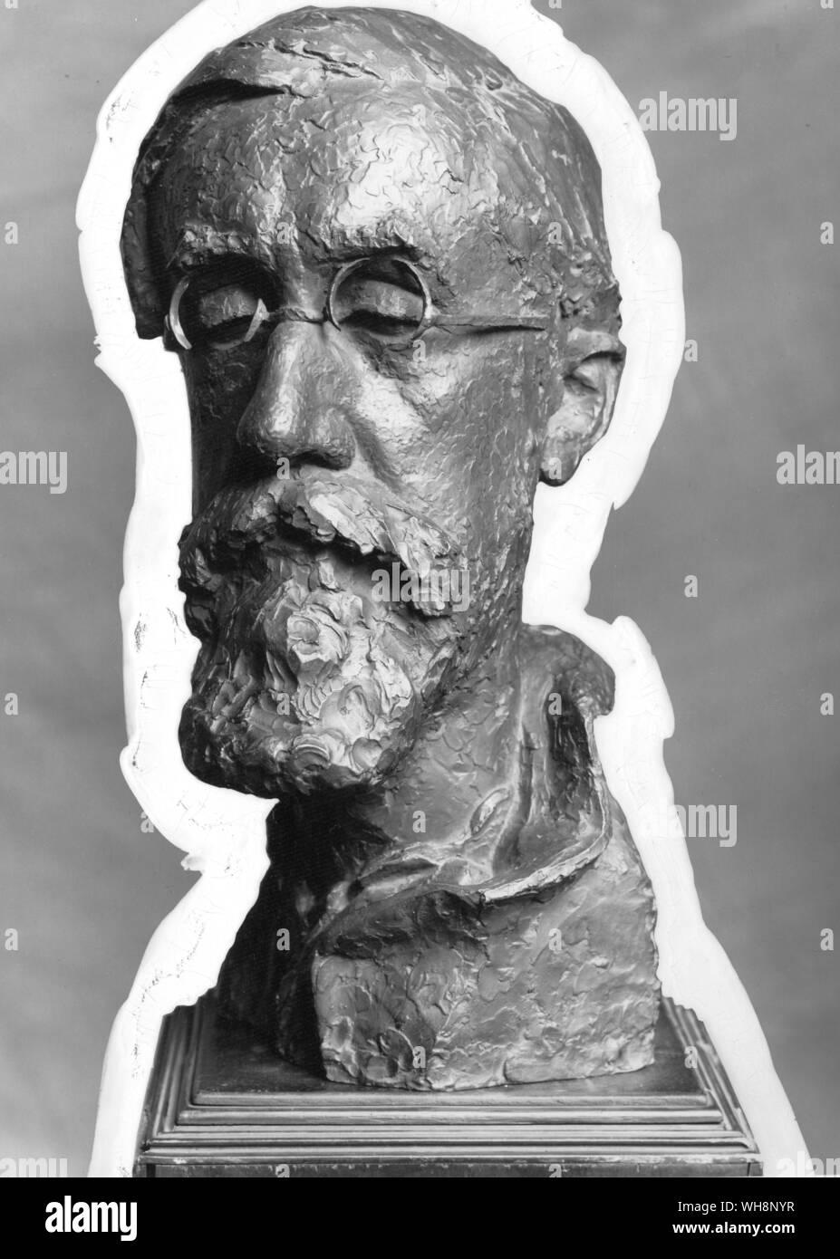Lytton Strachey (1880-1932) English critic and biographer1928-30  by Stephen Tomlin Stock Photo
