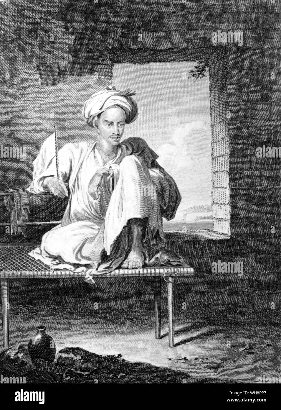 An Abyssinian at Massawa.  From a drawing by Henry Salt in Lord Valentia's Voyages and Travels Stock Photo