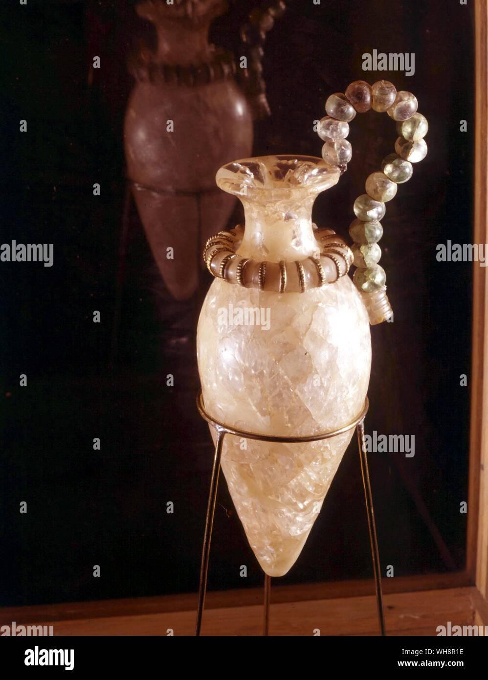Fine craftsmanship.  A ritual sprinkler in rock crystal, from kato Zakro, c.1500 BC. Stock Photo