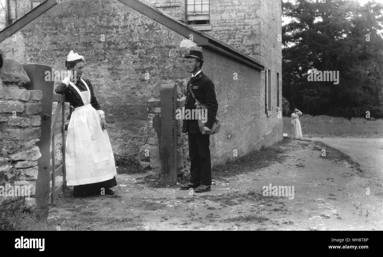 Postal deliveries 1800s Stock Photo