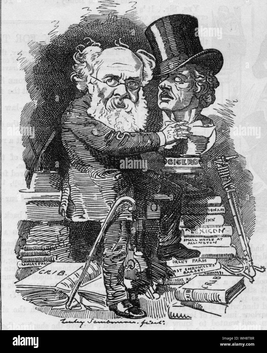 A cartoon from Punch Anthony Trollope Stock Photo