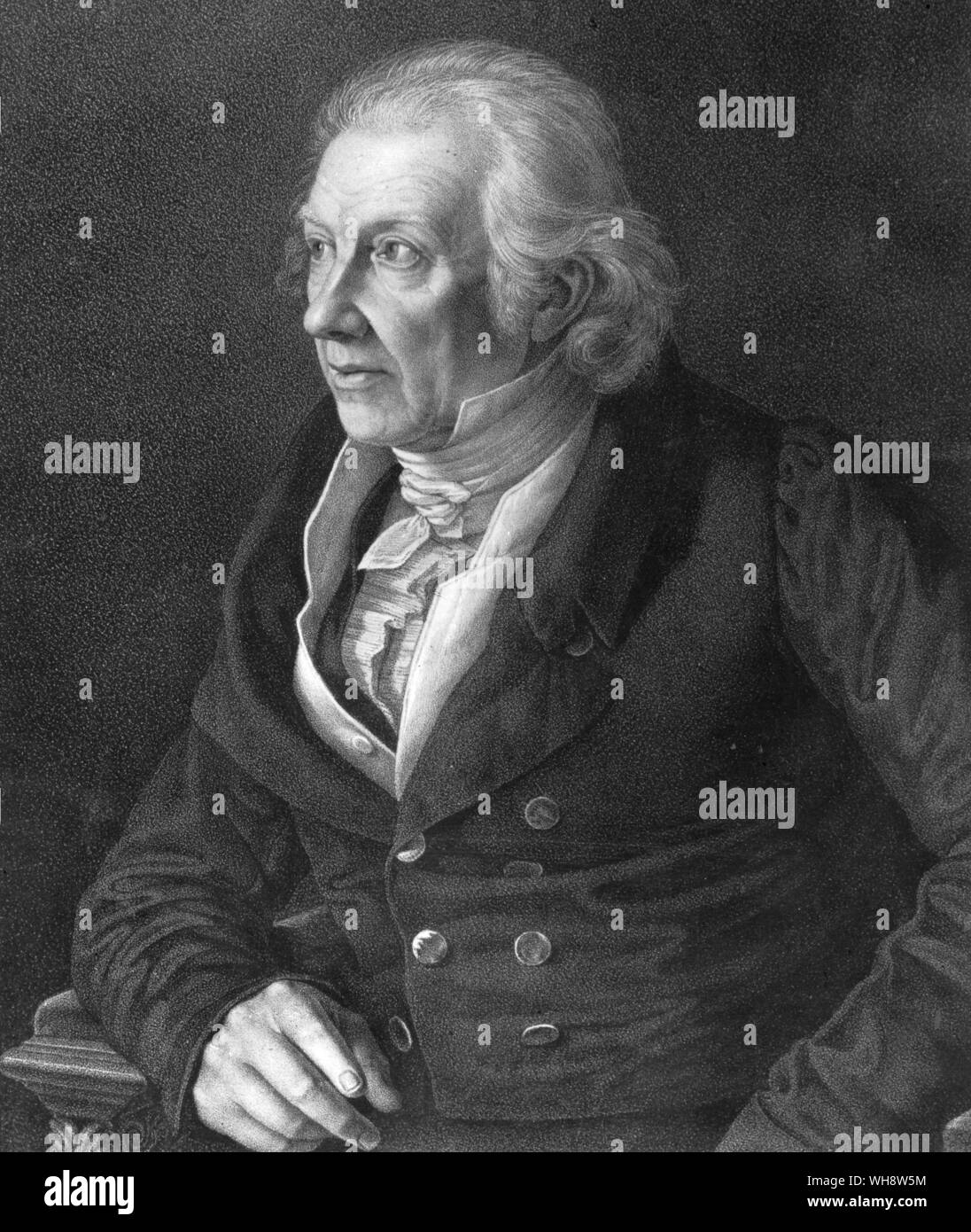 Professor Karl Zelter (1758-1832) 1826 Felix Mendelssohn's teacher of harmony, counterpoint and composition and general director of his musical studies Stock Photo