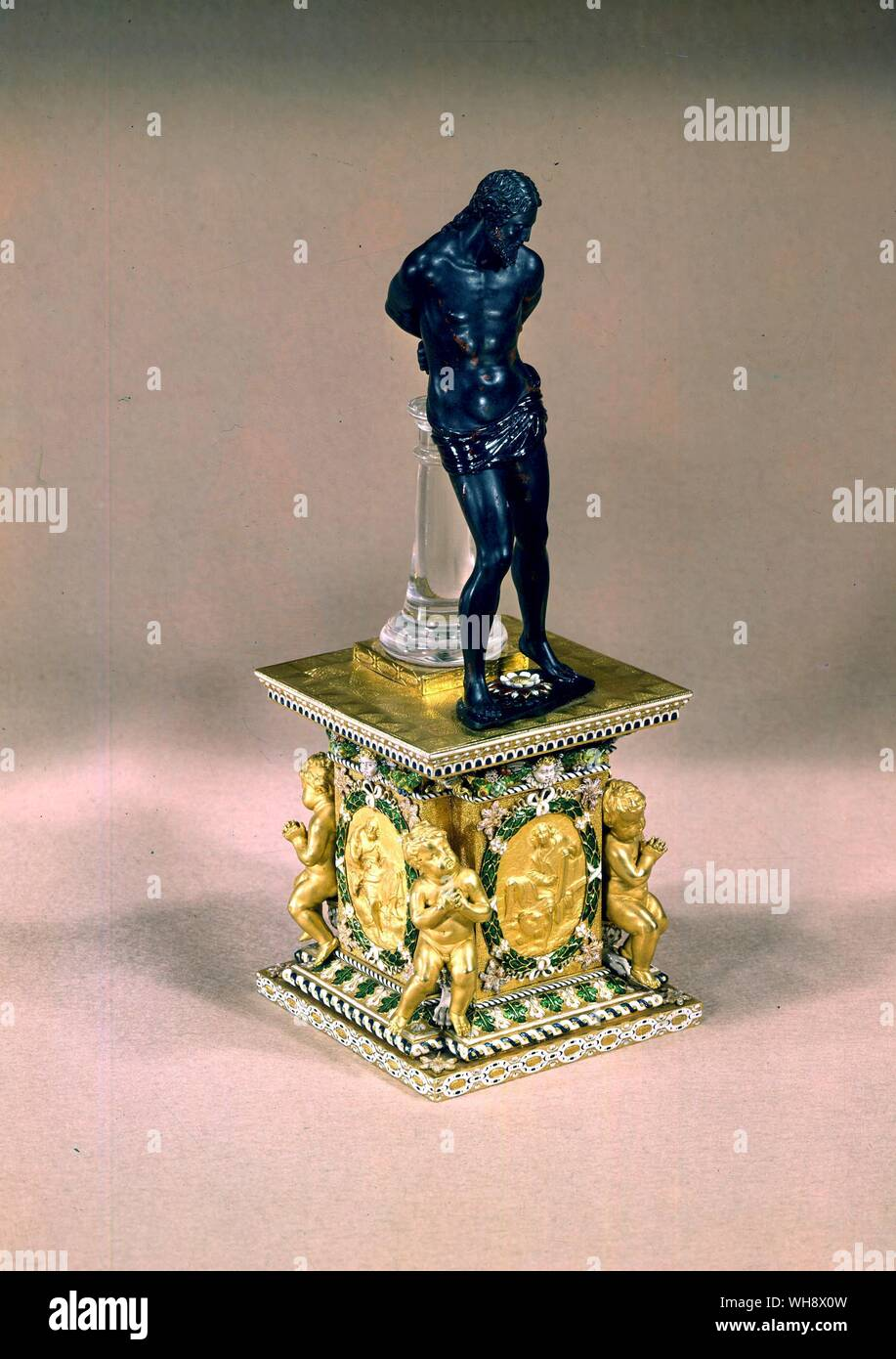 Christ at the column. from Louis' collection of jewellery Stock Photo
