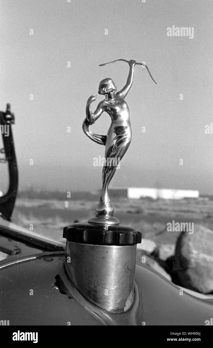 The hood ornament from Moon's eight-cylinder Diana of 1925-28.. Stock Photo