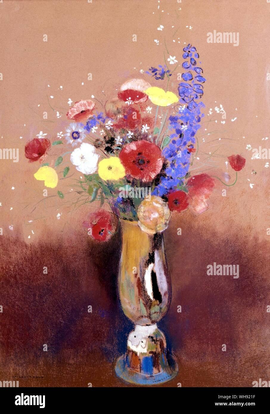 Fleurs Du Champs Dans Un Vase C 1912 Wild Flowers In A