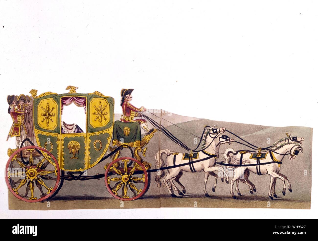 Cinderella's coach from a paper doll book, 1814.. Stock Photo