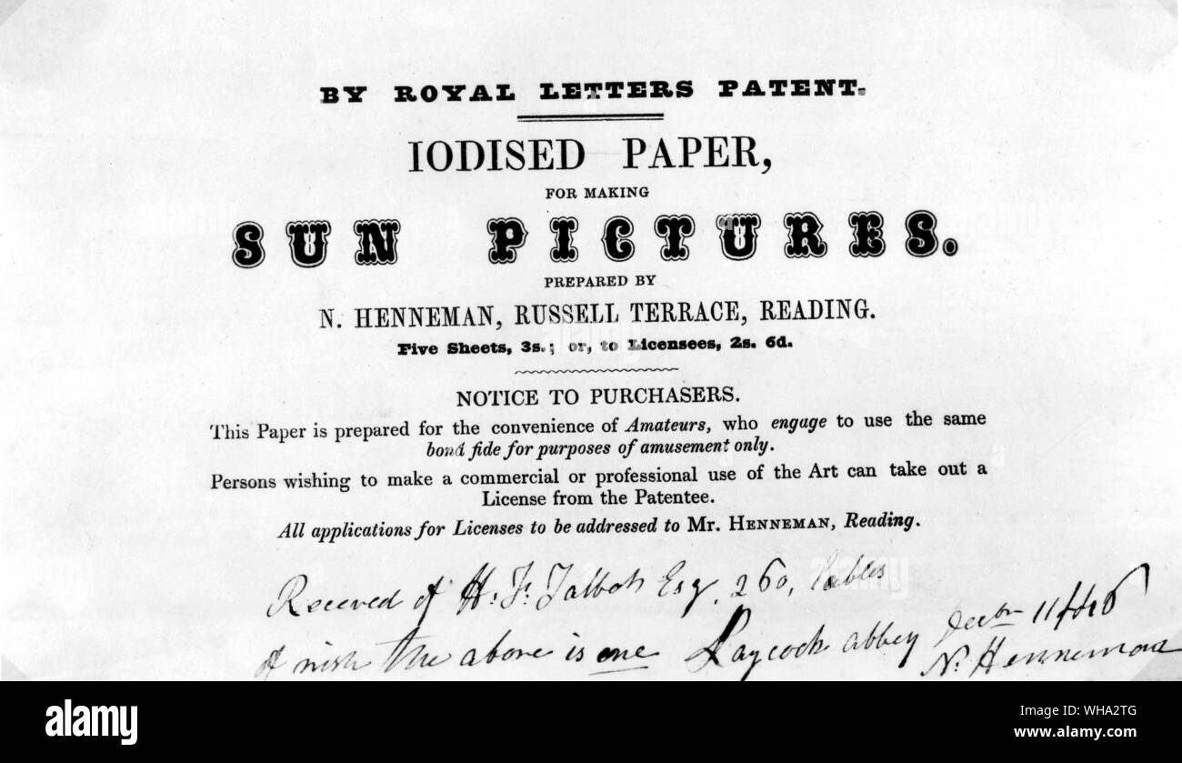 Label advertising chemically treated paper for making Sun Pictures Stock Photo