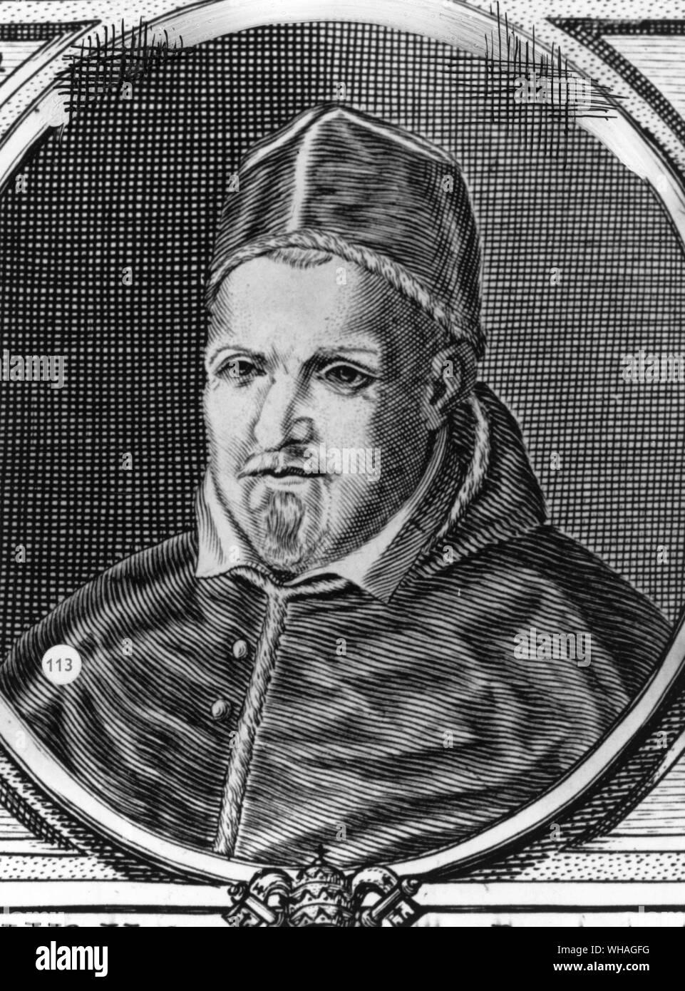Pope Paul V. Paul V (orig. Camillo Borghese) Italian pope 1605-1621  1552-1621 . . Stock Photo