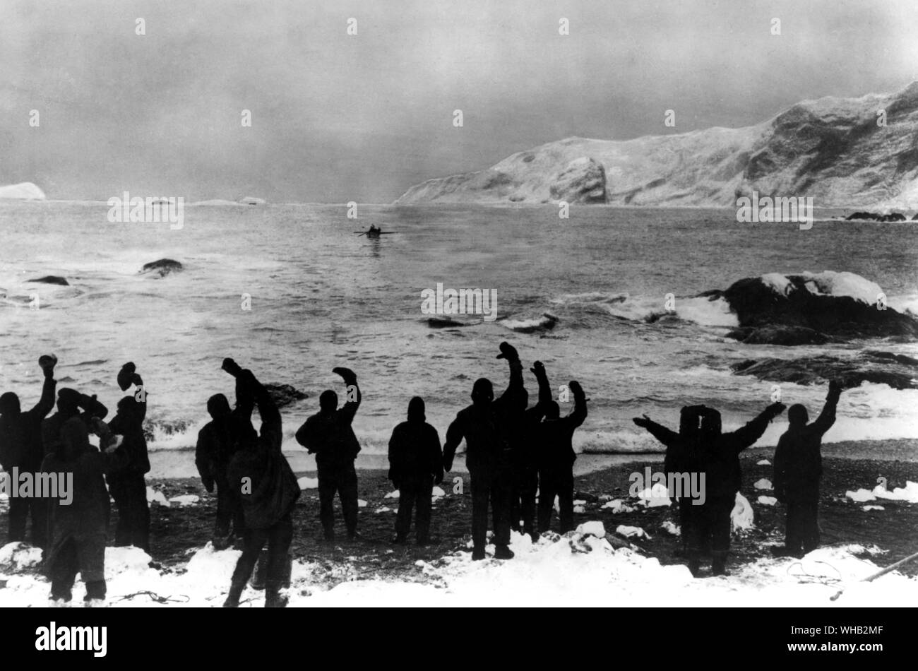 The crew of HMS Endurance finally saved 1916 Stock Photo