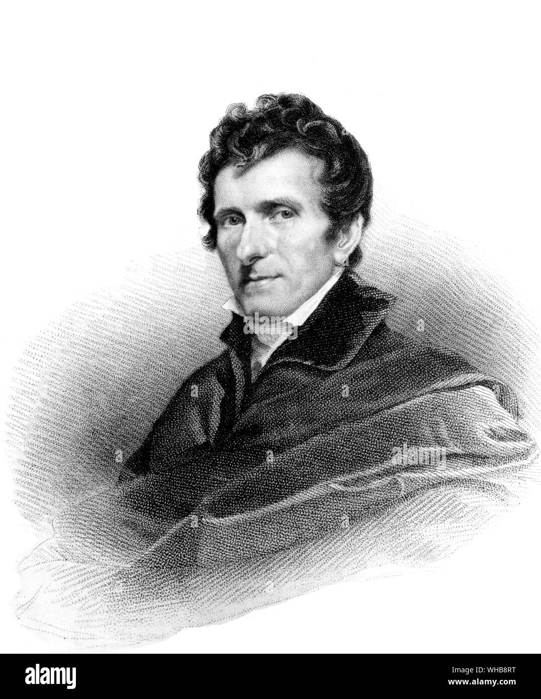 Antonio Canova, 1822, by Thomson after John Jackson - lithograph in The British Museum, London (Print Room) (J. R. Freeman) - Antonio Canova (November Stock Photo