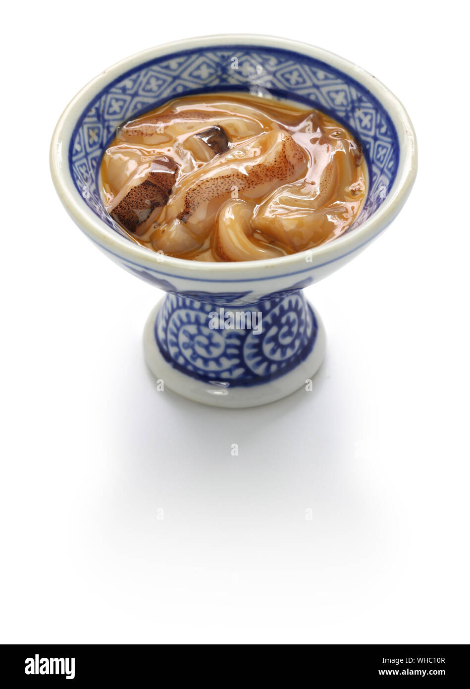 homemade ika no shiokara, salted fermented squid meat and liver, Japanese food Stock Photo
