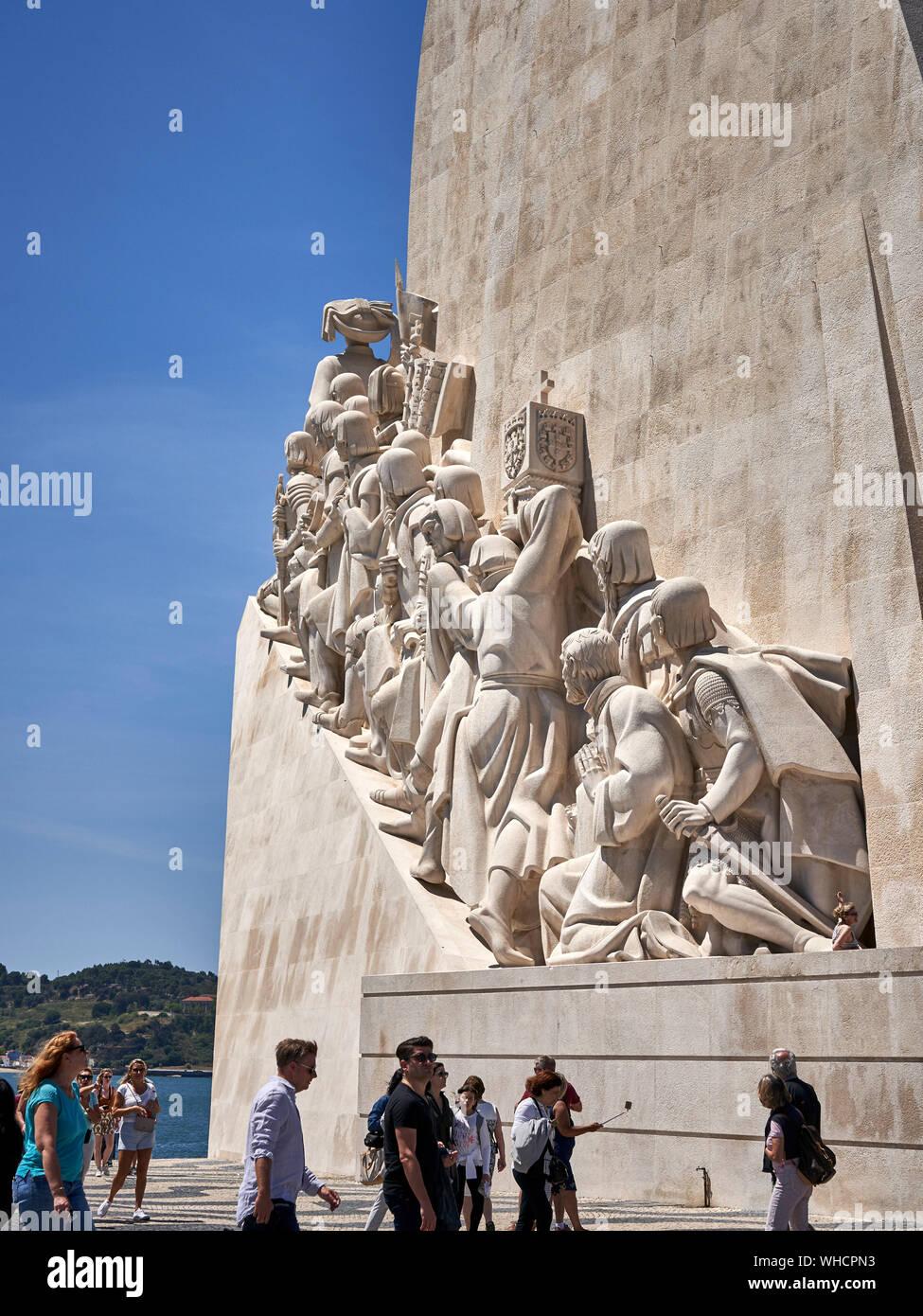 Monument to the Discoveries Santa Maria de Belém, Lisbon, Portugal Stock Photo