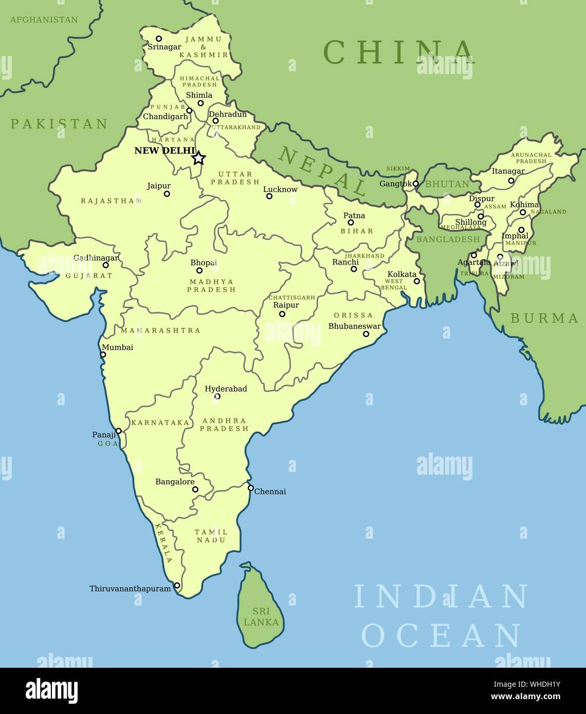 Kashmir Map Stock Photos & Kashmir Map Stock Images - Alamy