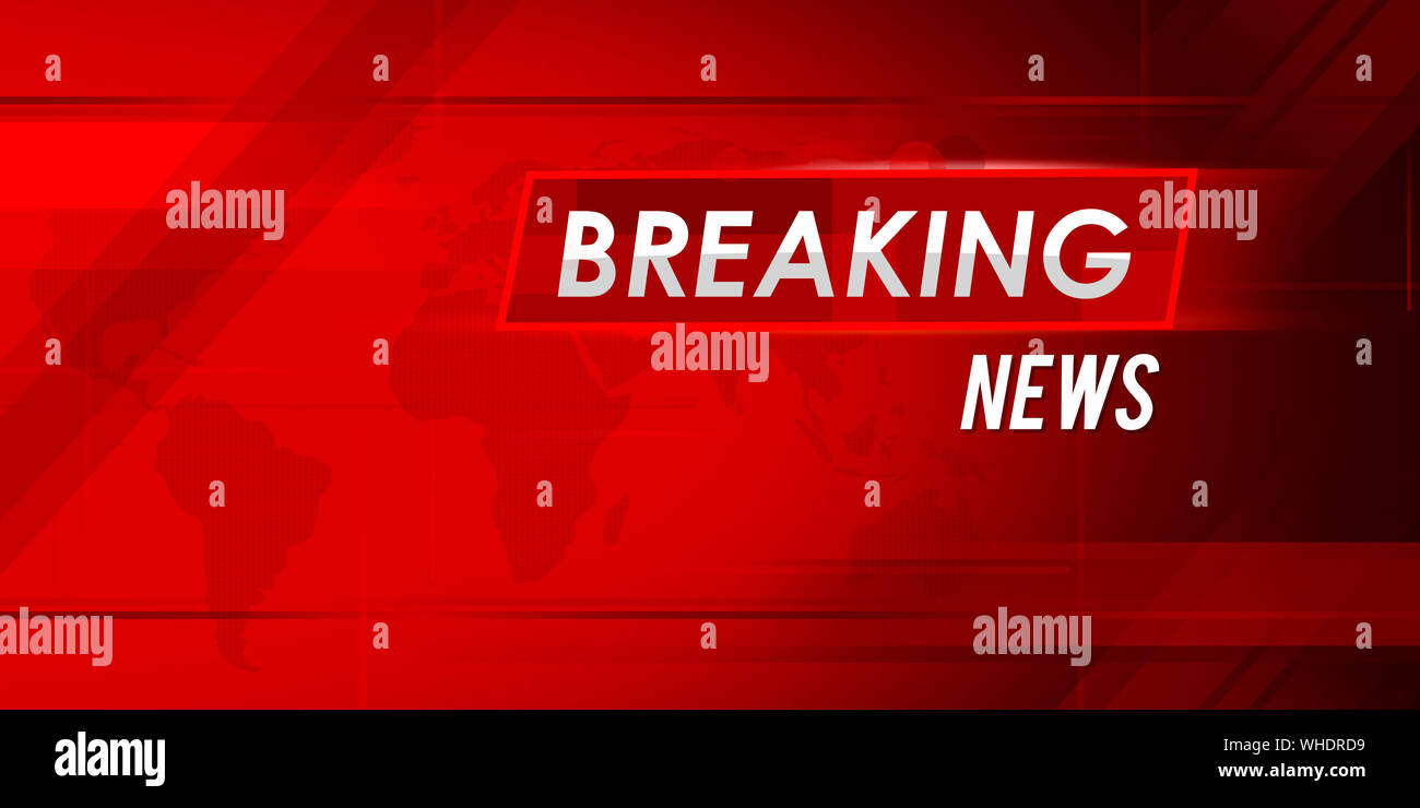 Breaking News Background Wallpaper In Red With Modern Motion