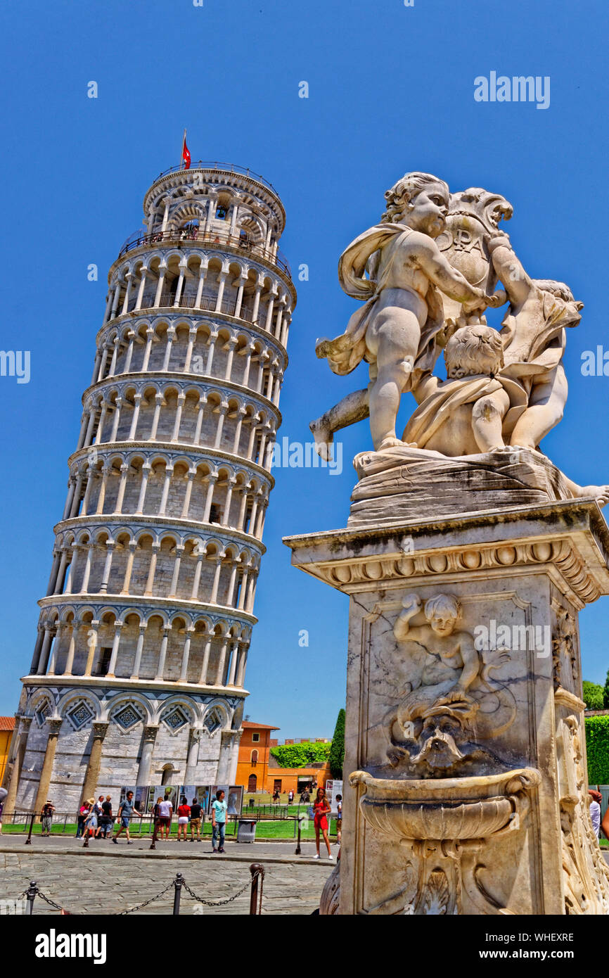 The Leaning Tower of Pisa, Tuscany, Italy. Stock Photo