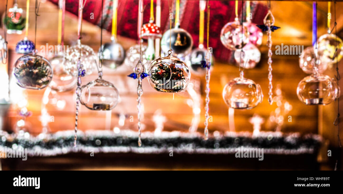 Close-up Of Hanging Lights Stock Photo