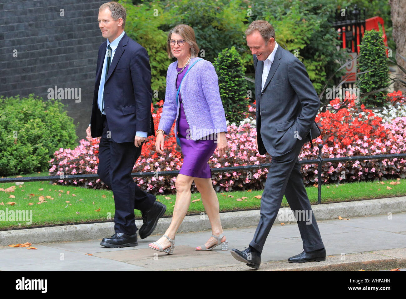 London, UK, 2nd Sep 2019. Cabinet Ministers, as well as many Conservative Party MPs and former politicians all enter No 10 Downing Street for an Emergency Cabinet Meeting, and later general Conservative Party gathering. Credit: Imageplotter/Alamy Live News Stock Photo