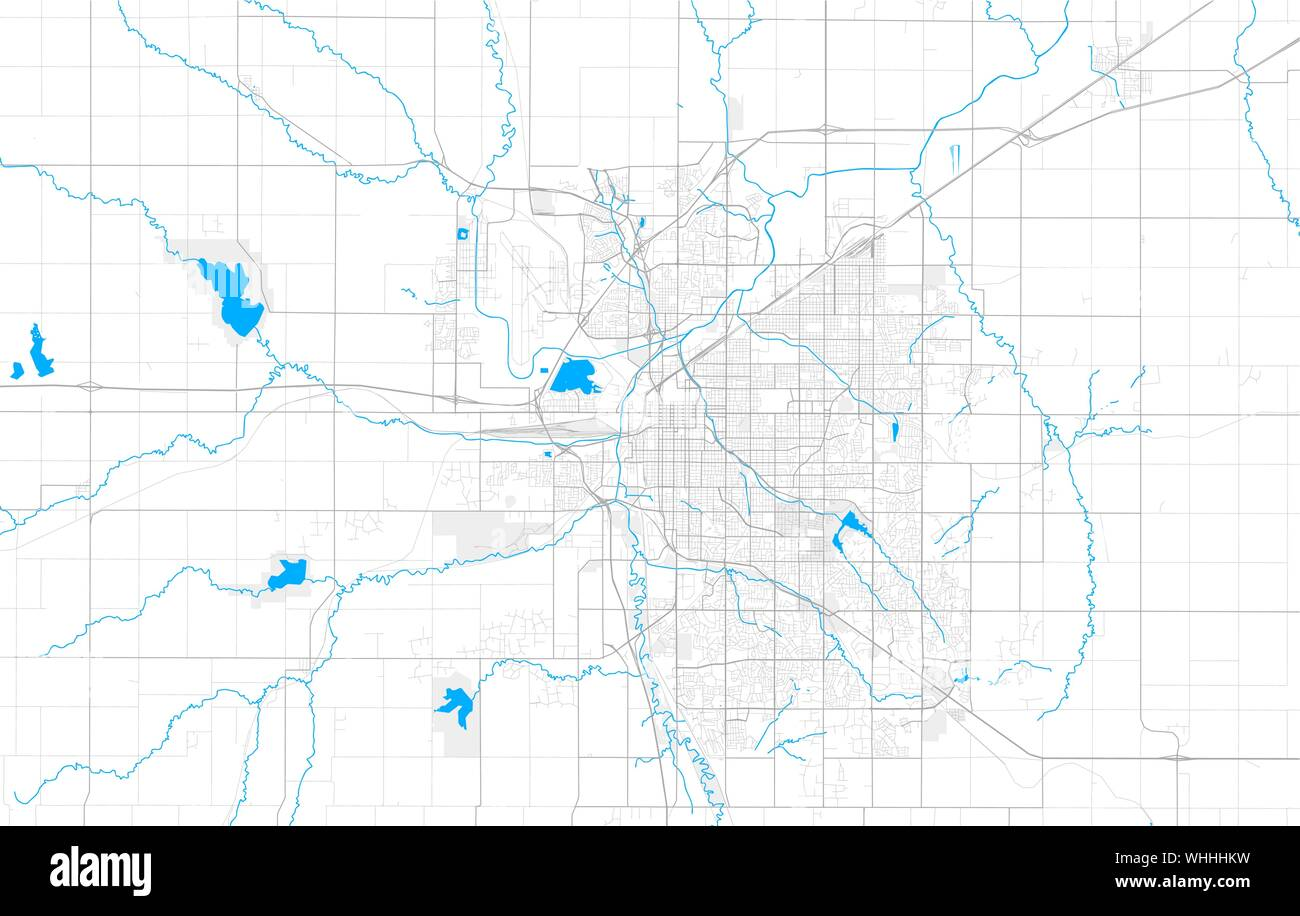 Rich detailed vector area map of Lincoln, Nebraska, U.S.A. ...