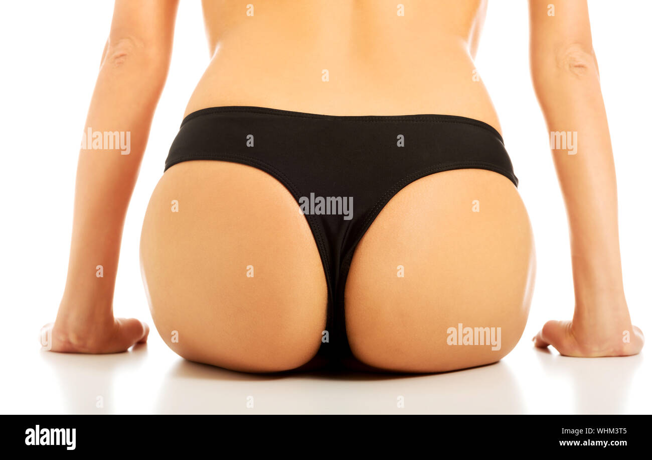 Midsection Of Woman Against White Background Stock Photo
