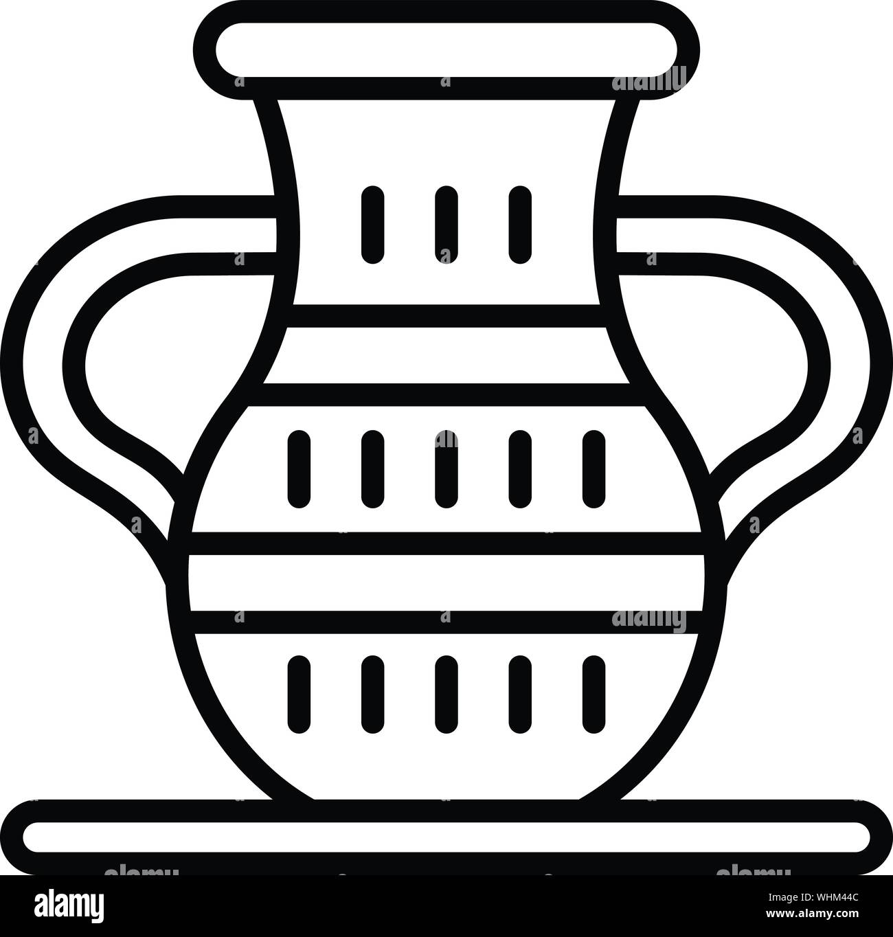 Egyptian vase icon, outline style Stock Vector