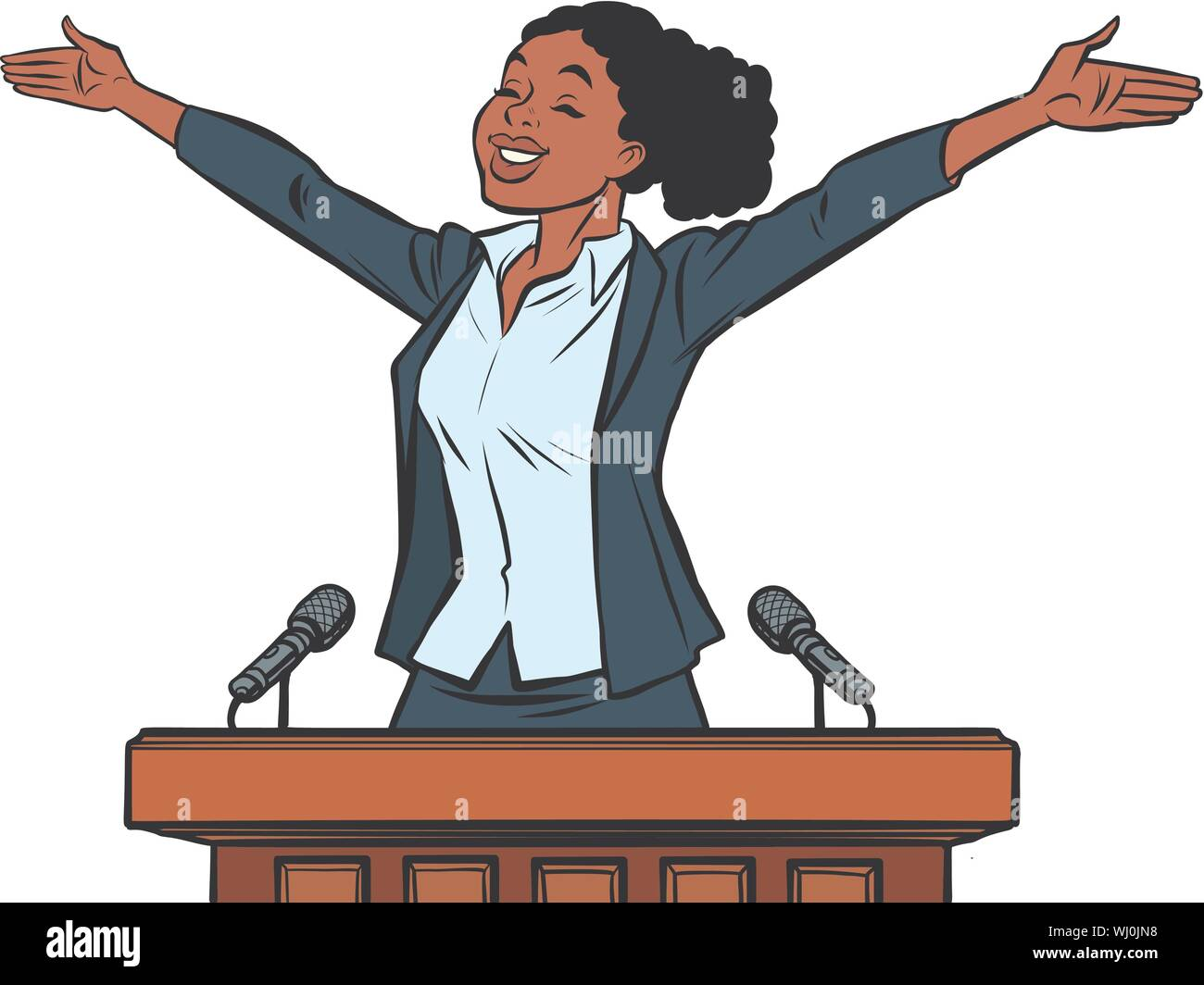 Page 2 Audience Public Speaker Cartoon High Resolution Stock Photography And Images Alamy