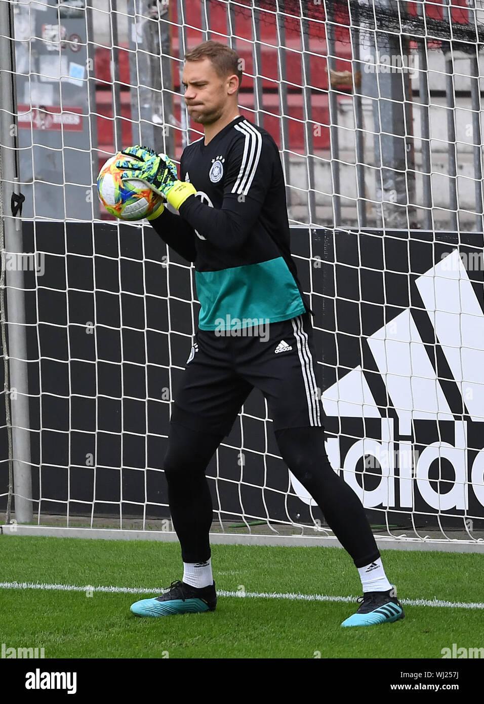 Goalkeeper Manuel Neuer Germany Scores A Ball Ges