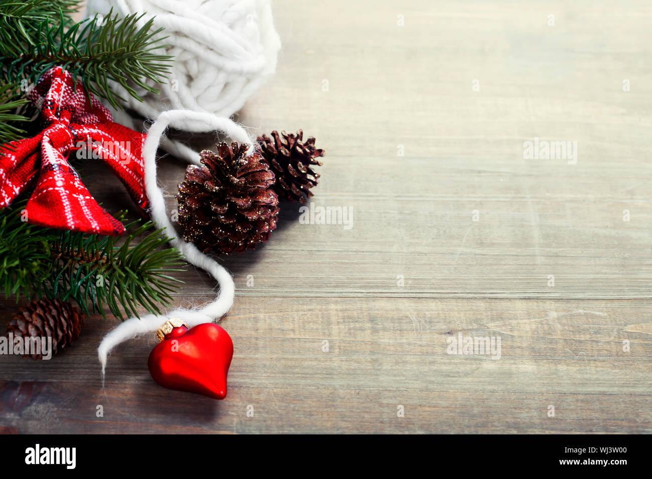 Christmas Border Design.Christmas Border Design On The Wooden Background Stock Photo